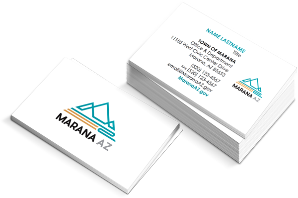 Example of print-on-demand business cards