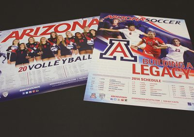 University of Arizona Athletics Schedule Posters