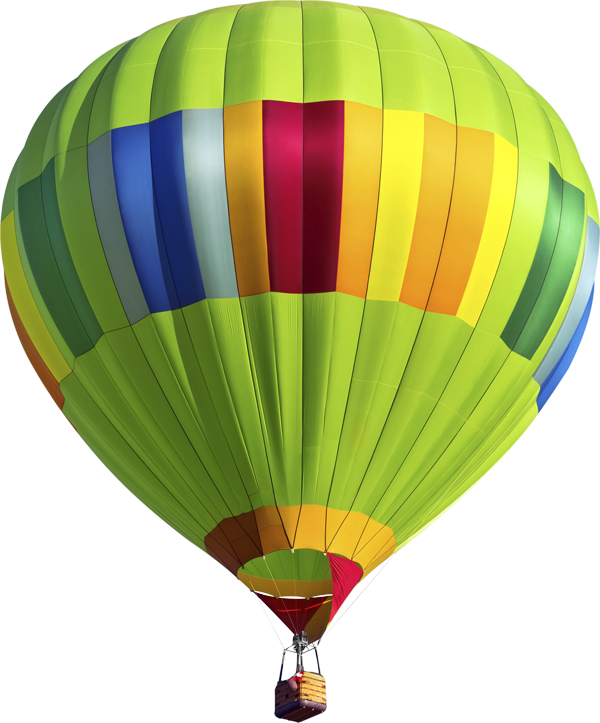 parallax balloon picture hovering above the clouds