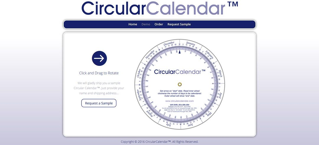 Circular Calendar Website featured image