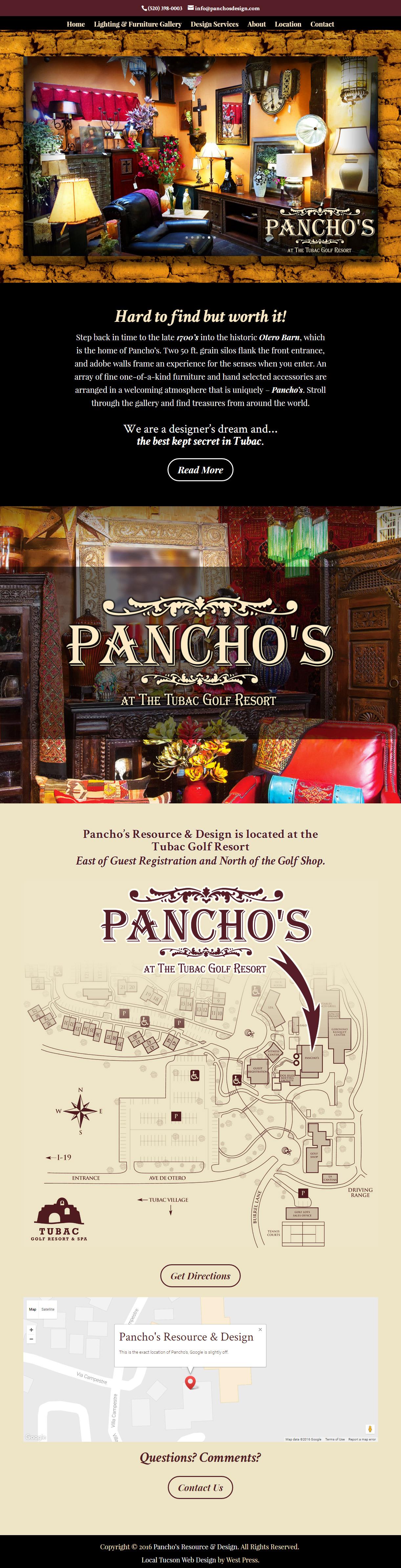 Pancho's Resource and Design screenshot