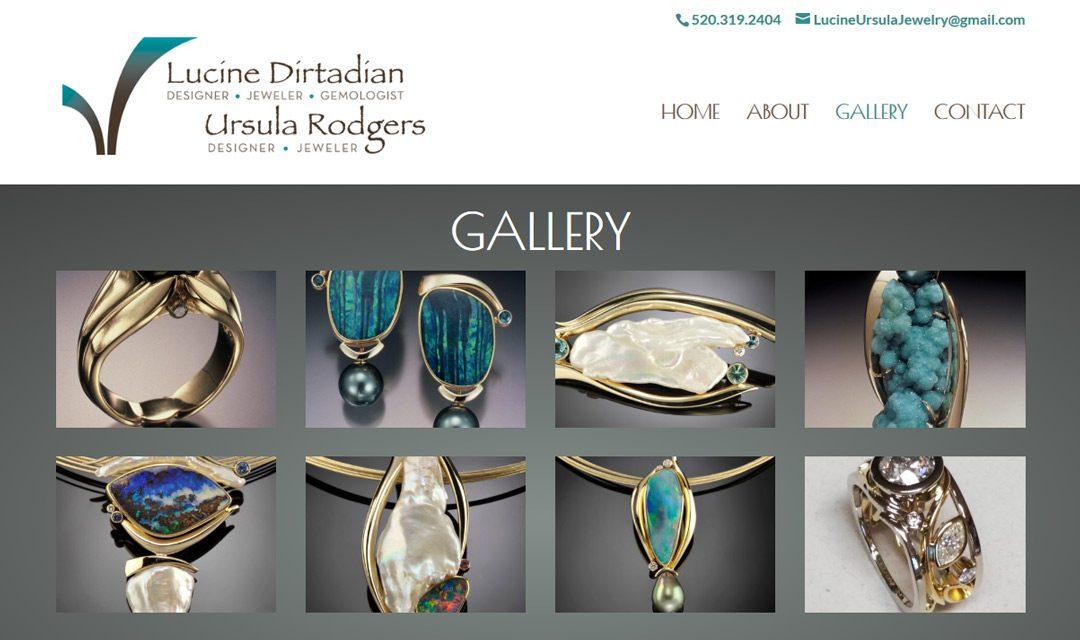 Lucine Ursula web design screenshot