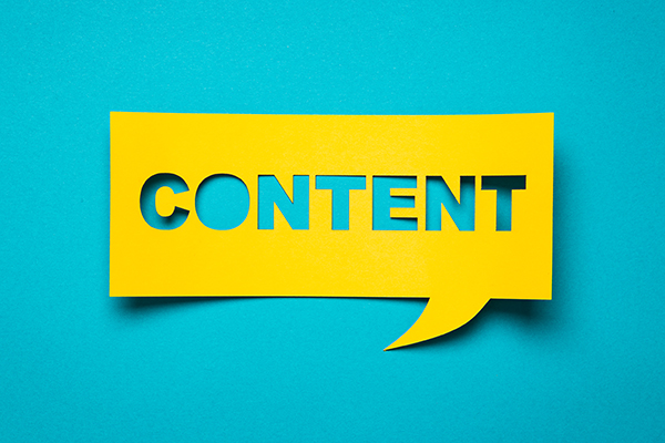 creating content talking bubble
